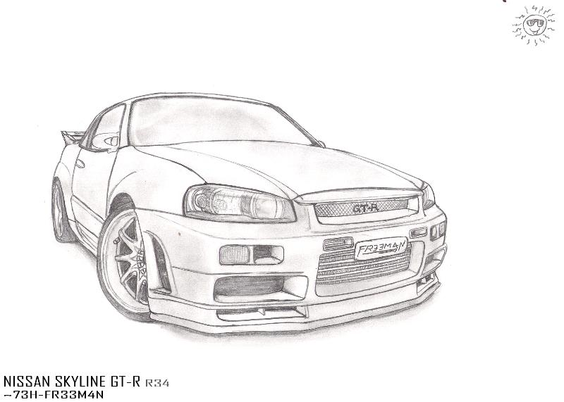 line gtr colouring pages